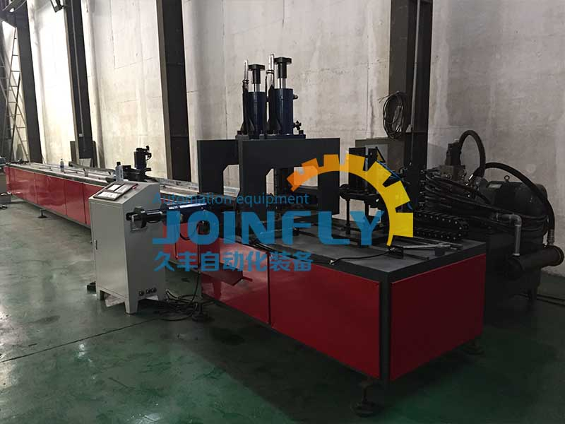 PV mounting double servo hydraulic punching production line